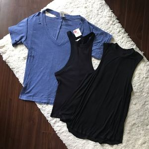 Three Anthro and Free People Tops